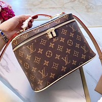 LV Louis Vuitton Women Shopping Bag Leather Nice Makeup Bag Handbag Tote Crossbody Satchel Shoulder Bag