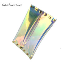 Fashion transparent laser PVC envelope clutch designer ladies summer beach waterproof holographic jelly rivet bag for party-in Clutches from Luggage & Bags on Aliexpress.com   Alibaba Group