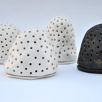 Ceramic Candle Holder in Black and White