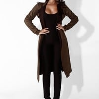 Olive New Hampshire Suede Trench