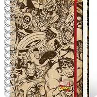 Marvel Retro Notebook A5 Heroes