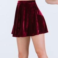 Sleek 'N Soft Velvet Skater Skirt
