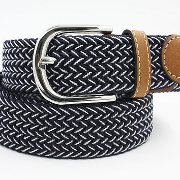 Casual Braided Buckle Belts - 12 Colors