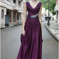 Frosted Purple Sofia Evening Gown