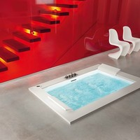BUILT-IN WHIRLPOOL BATHTUB WITH CHROMOTHERAPY SENSE DUAL | NOVELLINI
