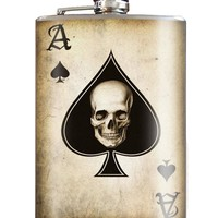 Ace of Spades Stainless Steel Flask