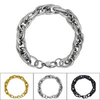 New Arrival Shiny Hot Sale Great Deal Gift Awesome Stylish Korean Accessory Simple Design Twisted Titanium Men Stainless Steel Fashion Gifts Bracelet [6526711619]