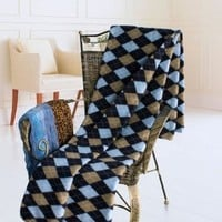 [Scotch Plaids - Blue] Soft Coral Fleece Throw Blanket (71 by 79 inches): Amazon.ca: Home & Garden