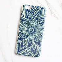 Navy Mandala iPhone Case