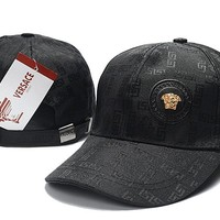 Black VERSACE Baseball Cap Hat Sports Workout
