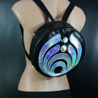 El Wire Round Bassnectar Backpack , Holographic Emblem Backpack , Rave Backpack, Festival Backpack