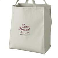 Sweet Dreams Embroidered Bags | Zazzle