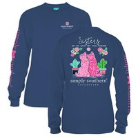 "Youth Simply Southern Long Sleeve Tee - ""Sister"""