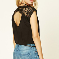 Lace-Trim Bodysuit