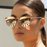 Rose Gold Quay Cat Eye Sunglasses