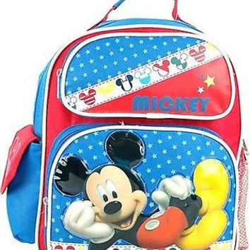 """Mickey Mouse School 10""""-12"""" Backpack Back Pack by Disney-New with Tags!!"""