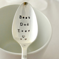 Best dad ever, tea  spoon-silver plated- father's day gift- gift for Dad-gift for Daddy