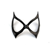 Black Cat Felicia Hardy Woman Leather Mask Spiderman Super Hero Sexy Masquerade Cosplay Halloween Costume Carnival Party Cat Burglar Marvel