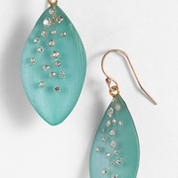 'Lucite - Dust' Long Leaf Statement Earrings