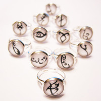 Mortal Instruments Rune Silver Ring YOUR CHOICE