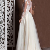 Wedding dress KONI, boho wedding dress, bohemian wedding dress, bridal dress, bridal gown, princess wedding dress