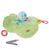 Mary Meyer 41505 Buccaneer Octopus Activity Baby Blanket with Pacifier Clip