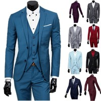 High Quality Business and Leisure Suit Autumn Outfit Three-piece Suit Fashion Men Suits