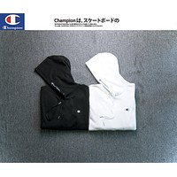 Champion Embroidered Hoodie Sweater S Xxl