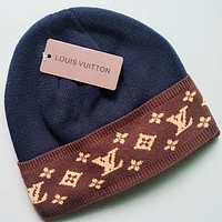 Louis Vuitton LV  Fashion Casual Women Men Crochet Hat