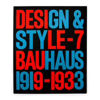 """Seymour Chwast """"Design & Style"""" Issue 7 (Bauhaus 1919-1933). From Seymour Chwast's personal archive."""