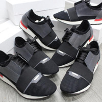 ca spbest Balenciaga Grey/black Mens Runners