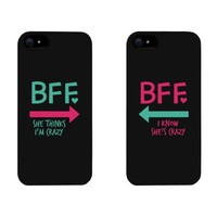 Funny BFF Phone Cases - Crazy Best Friend Phone Covers for iphone 4, iphone 5, iphone 5C, iphone 6, iphone 6 plus, Galaxy S3, Galaxy S4, Galaxy S5, HTC M8, LG G3