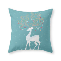 Society6 Christmas Deer T Throw Pillow
