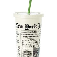 kate spade new york 'media newspaper' insulated tumbler - White