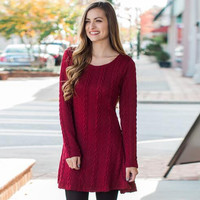 Plain Knit Sweater Dress 12609