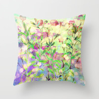 simple flowers Throw Pillow by clemm
