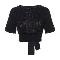 Open Back Short Sleeve Knit Top | Moda Operandi