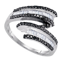 Diamond Fashion Ring in White Gold-plated silver 0.54 ctw