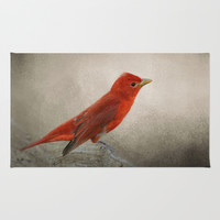 Song of the Summer Tanager 2 - Birds Area & Throw Rug by Jai Johnson