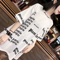 """Chrome Hearts"" Women Casual Personality Letter Print Short Sleeve T-shirt Top Tee"