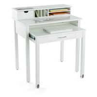 White Roll-Out Desk