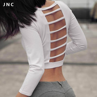 2016 Cute Workout Gear Summer Swimsuit White Long sleeve Tidal Flow Paddle Crop Top Breathe by Body Glove Swim Top Fit Fashion