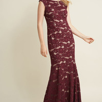 Looking Luxe Lace Maxi Dress in Plum