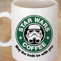 Star Wars Starbucks Coffee funny mug ,tea mug,cup mug 11 oz. Coffee Mug measures 9,5 cm. tall and 8,2 cm. in Centimeter.
