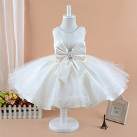 IVORY SASH COLOR BRIDESMAID TODDLER WEDDING PARTY PAGEANT FLOWER GIRL DRESS 2-10