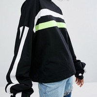 The Ragged Priest Black Label Premium T-Shirt With Extra Long Sleeves at asos.com