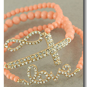 Lovely Peach Trio from p.s. I Love You More Boutique