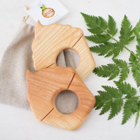 Wooden Teether Cupcake New baby teether Baby gift Eco friendly Toy Handmade Baby toy Wooden Teething ring