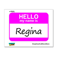 Regina Hello My Name Is Sticker
