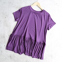 Peplum Crewneck Tee Shirt in More Colors